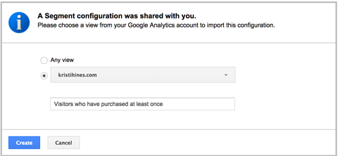 import from google analytics solution gallery
