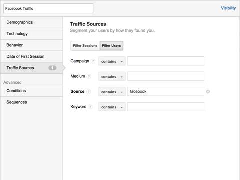 create a new custom segment
