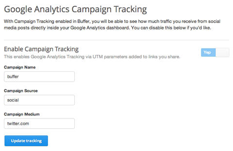 integrating buffer with google analytics