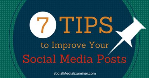 seven tips to improve social media