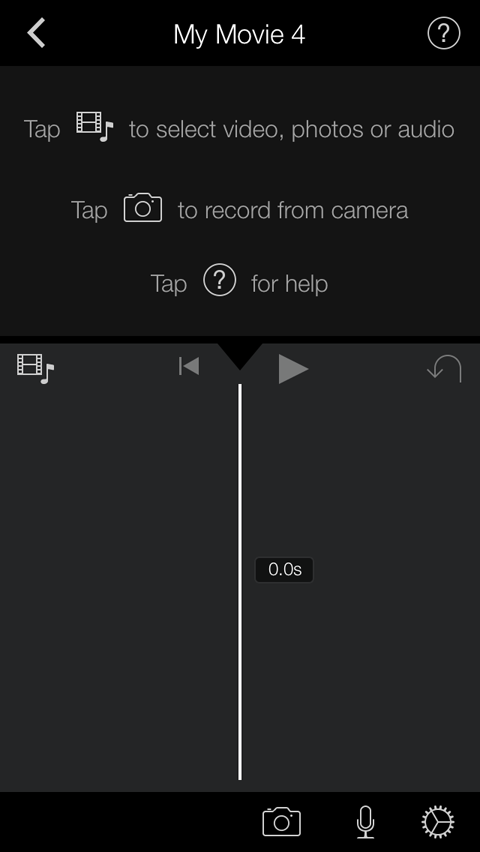 edit screen in imovie