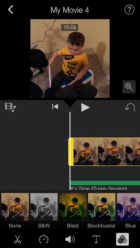filter gallery in imovie