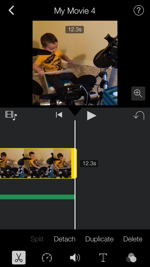 editing clip length in imovie