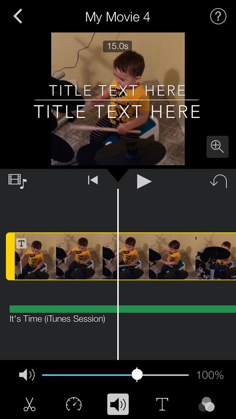 editing volume in imovie