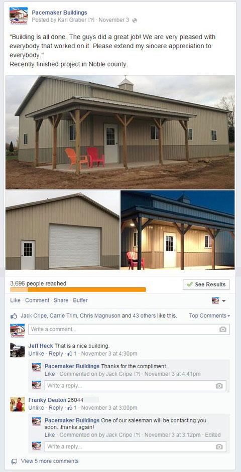 popular facebook update