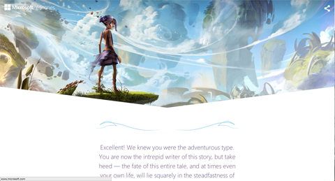 microsoft stories adventure path screenshot