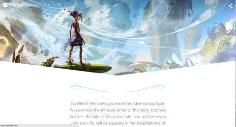 microsoft stories adventure path screenshot