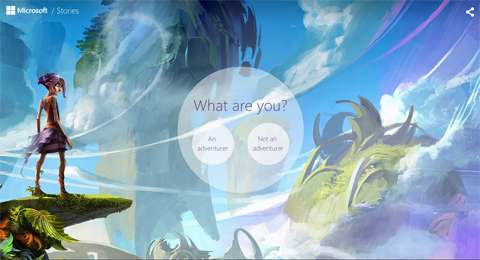 microsoft stories screenshot