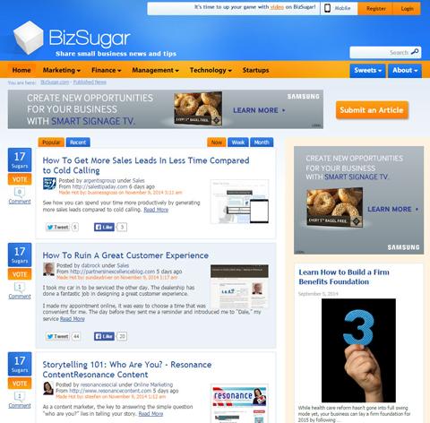 bizsugar website