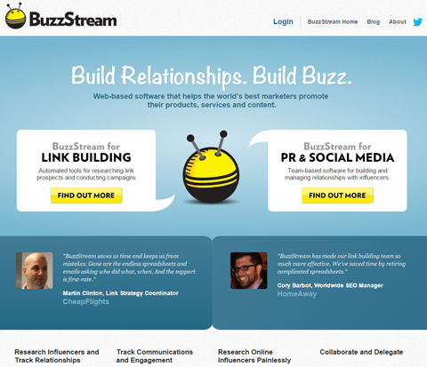 buzzstream website