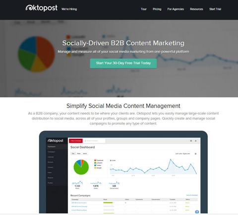 oktopost website
