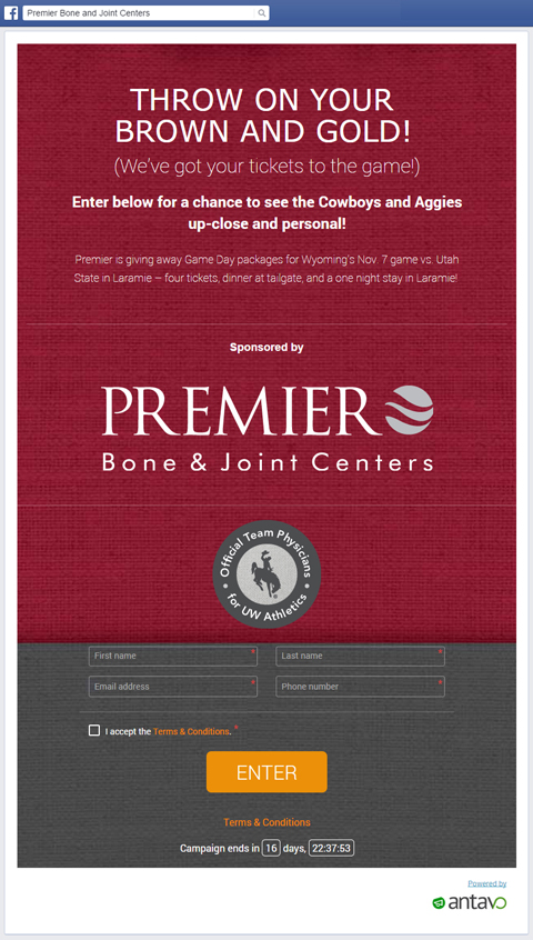 premiere bone joint contest front