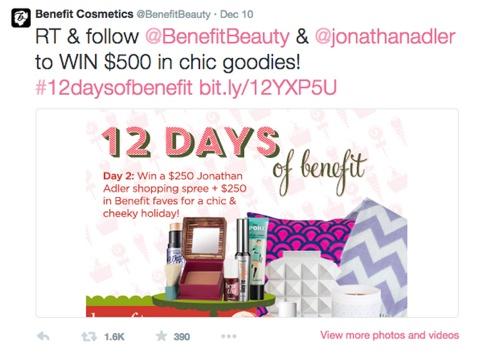 benefit cosmetics hashtag post