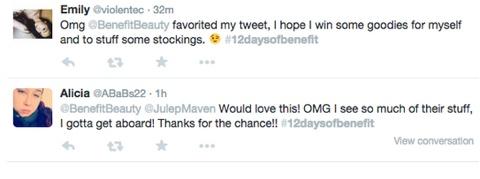 benefit cosmetics hashtag post responses