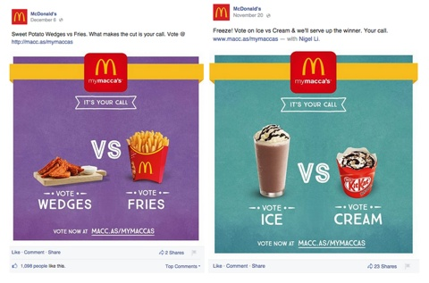 mcdonalds voting posts