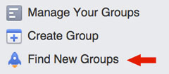 find new groups feature