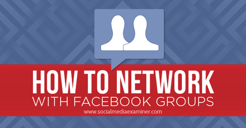 network with facebook groups