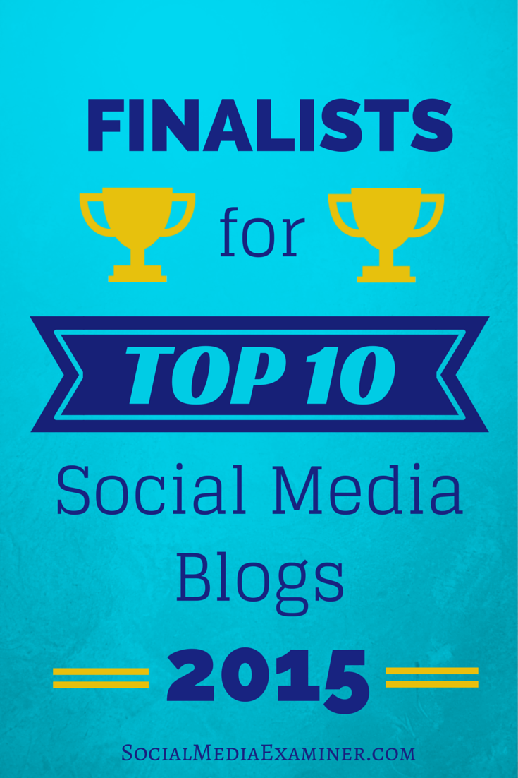 2015 top ten social media blog contest