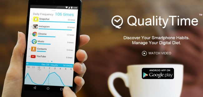 QualityTime helps track your social media usage.