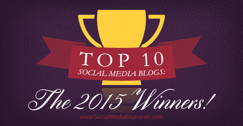 top social media blogs of 2015 winners