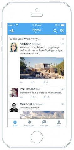 Twitter shows users the top tweets they missed.