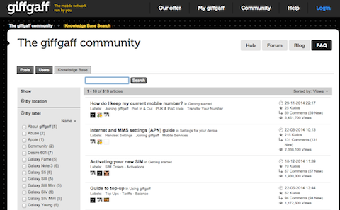 giffgaff community