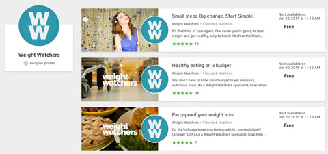 weight watchers free helpouts