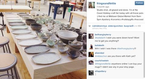fringeandfettle instagram post with hashtags