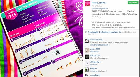 kayla itsines instagram post