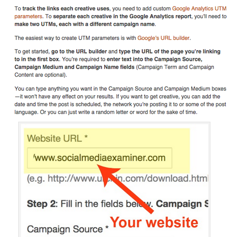 kiera stein social media examiner google analytics article