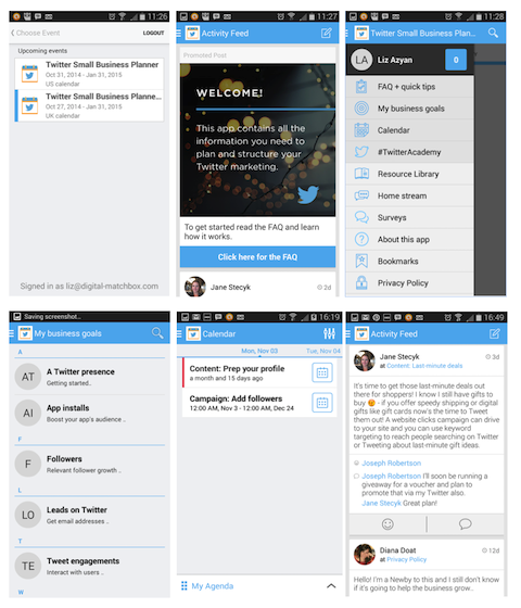 twitter small business planner app