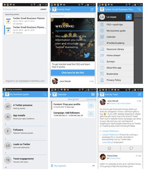 twitter small business planner app