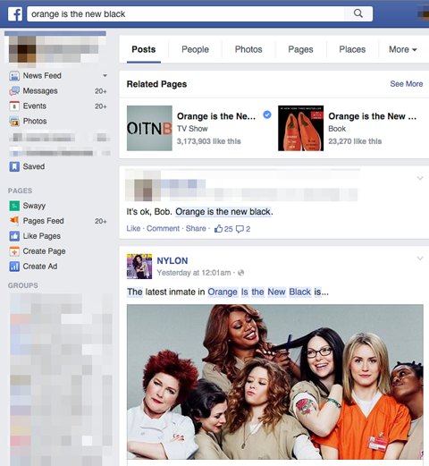 orange is the new black graph search results