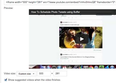 repurposed video blog post dimensions