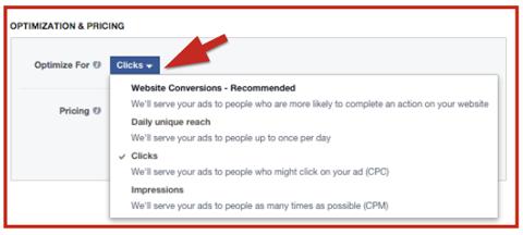 facebook ad bid options