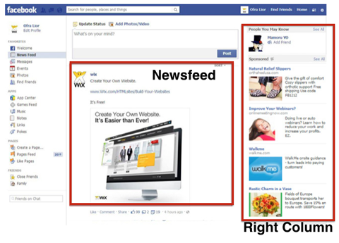 facebook ad placements
