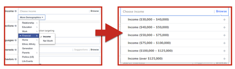 facebook ad income targeting