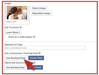 existing facebook conversion pixel
