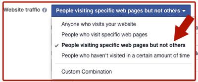 facebook ad website traffic targeting options