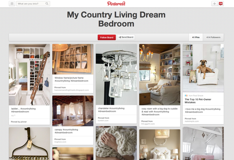country living pinterest contest board