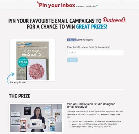 emailvisions pinterest contest