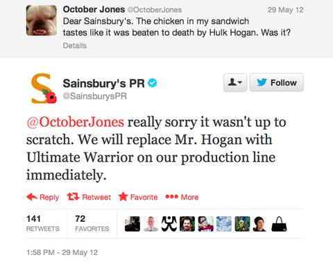 sainsburys response tweet