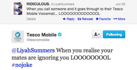 tesco #nojoke response tweet