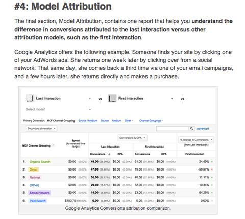 social media examiner google analytics conversion report article