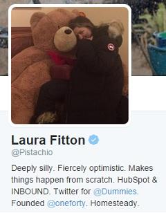 Laura Fitton's Twitter profile.