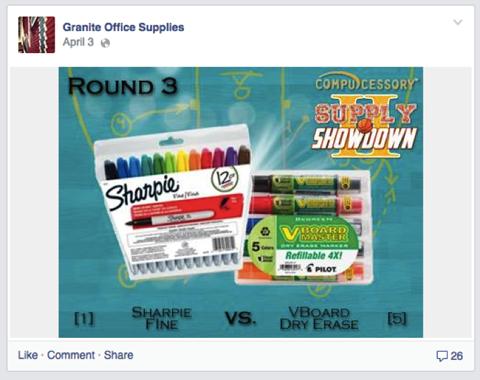 granite office supplies facebook contest