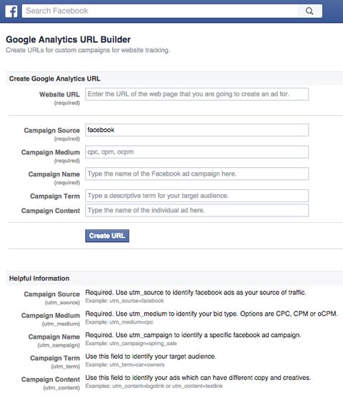 facebook google url builder