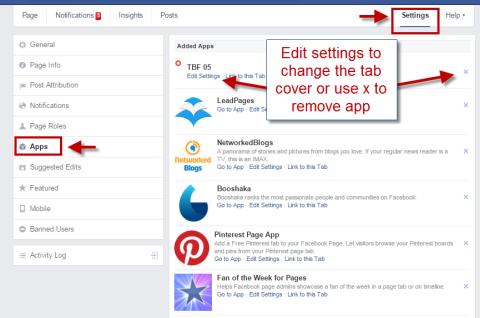 SASHA: Facebook app link to website