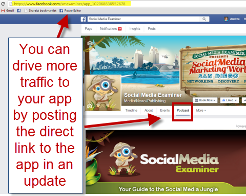facebook app link