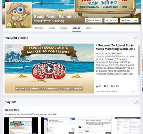 social media examiner feature video on facebook tab